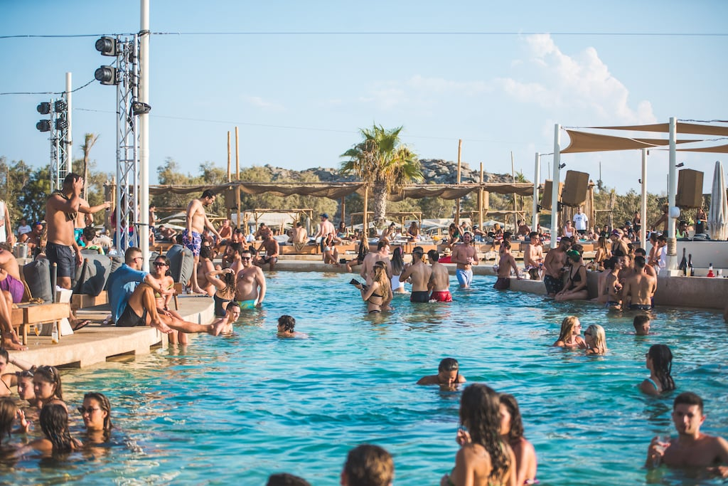 pool party in mykonos