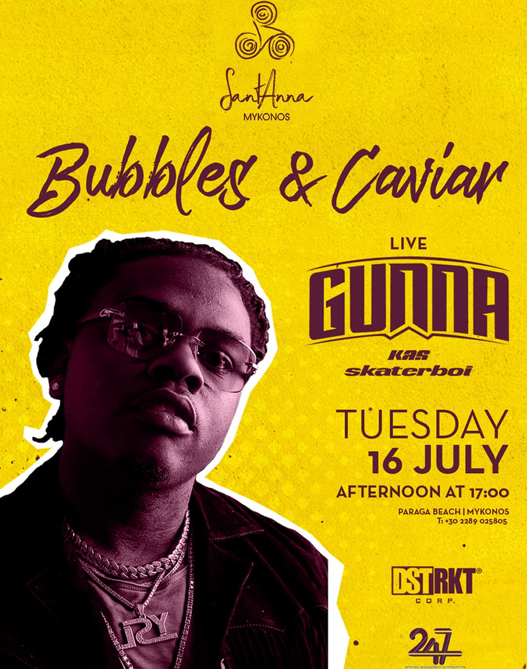 SantAnna Mykonos Bubbles & caviar with Gunna Live Party